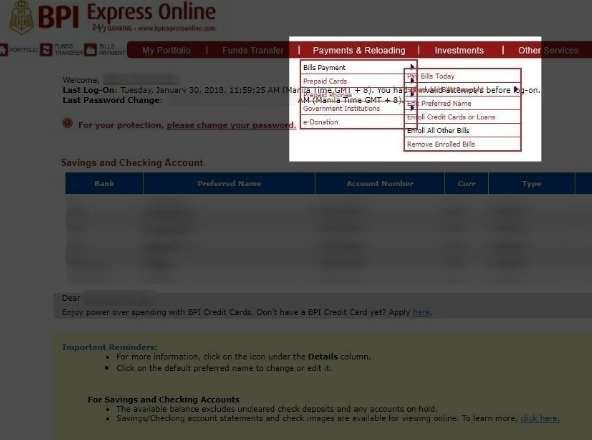 How to Enroll and Pay Meralco Bill in BPI Express Online