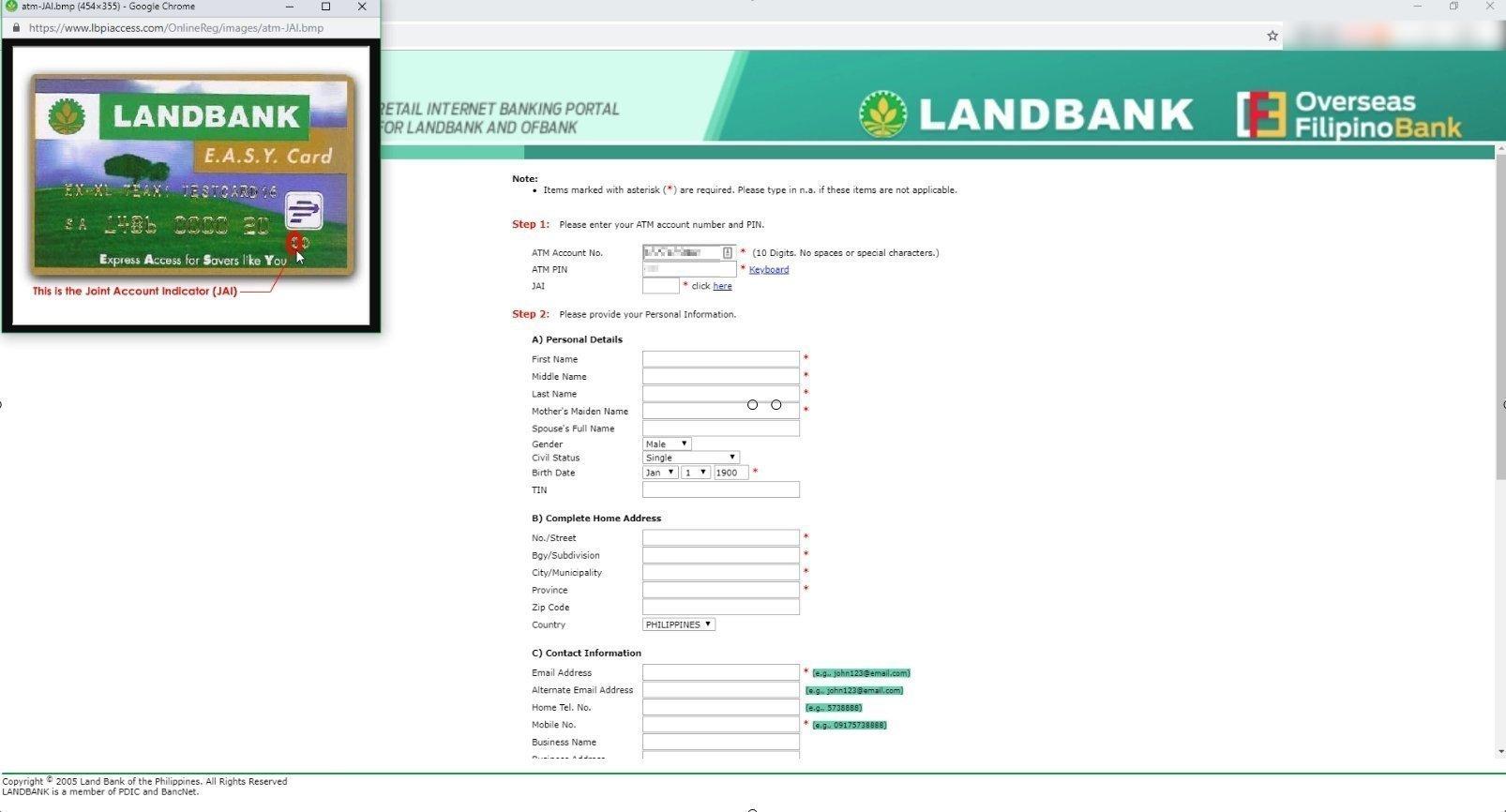 landbank online enrollment registration